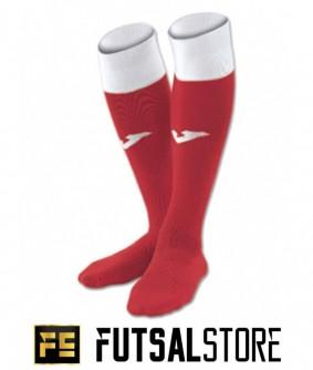 Chaussettes de futsal et football Calcio 24 rouge et blanche Joma
