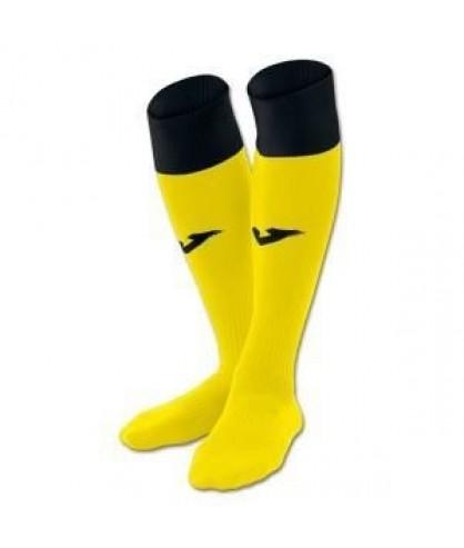 Chaussettes de futsal et football Calcio 24 jaunes et noires Joma