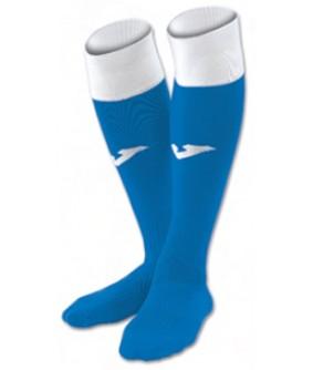 Chaussettes de futsal et football Calcio 24 bleues et blanches Joma