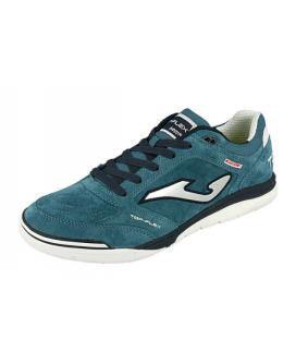 Chaussure de Futsal et de Foot 5 Top Flex Nubuck bleue Joma