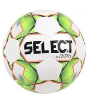 Ballon Enfant de Futsal et de Foot a 5 Talento 9 Vert/Blanc Select 2018