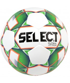 Ballon de Futsal et Foot à 5 Attack Grain Blanc/Vert Select 2018
