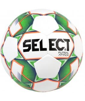 Ballon de Futsal et Foot à 5 Attack Grain Blanc/Vert Select 2018
