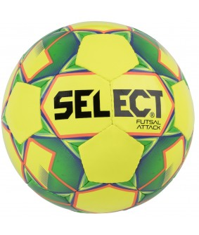 Ballon de Futsal et de Foot à 5 Attack Shiny Jaune Select 2018