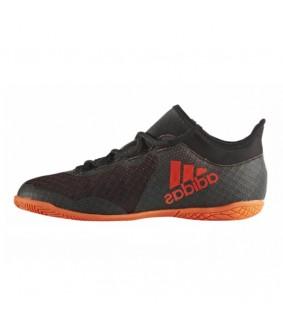 Chaussures pour enfants de futsal et de foot à 5 noires et orange X TANGO 17.3 IN adidas