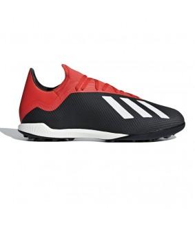 Chaussures pour adultes de Futsal et de foot à 5 Noir et rouge X 18.3 TF adidas