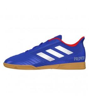 Chaussures de futsal Adidas Predator 19.4 IN bleues pour enfant