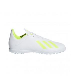Chaussures de Futsal et Foot 5 blanches X 18.4 TF pour enfant