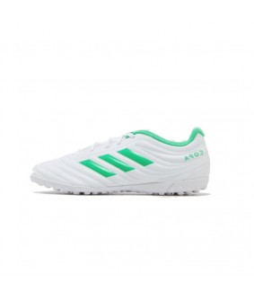 Chaussures blanche de Futsal et Foot à 5 blanches Adidas Copa 19.4 TF