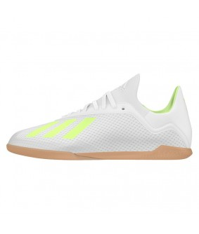 Chaussures de Futsal blanche X TANGO 18.3 IN adidas Junior