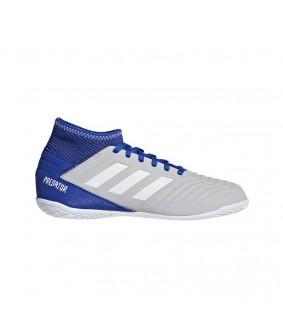 Chaussures grises de futsal et de football en salle Predator 19.3 In Sala pour enfants