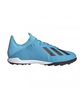 Chaussures pour adultes bleues de futsal et foot à 5 X Tango 19.3 TF adidas