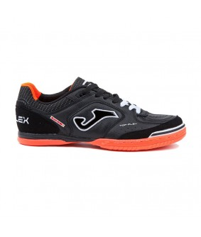 Chaussures de Futsal NOIRES semelle ORANGE Top Flex IN Joma