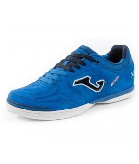 Chaussure de Futsal et de Foot 5 Top Flex Nobuck bleue Joma