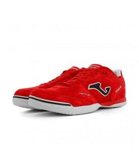 Chaussures pour adultes de Futsal et de Foot à 5 Top Flex Nubuck rouge Joma