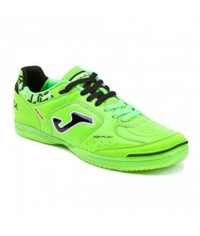 Chaussures pour adultes de Futsal et de Foot à 5 Vert Fluo Top Flex IN Joma