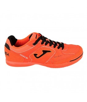 Chaussures pour adultes de Futsal et Foot à 5 Orange Fluo Top Flex IN Joma