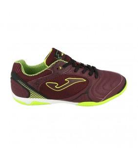 Chaussures pour adultes de Futsal et de Foot à 5 bordeaux Dribling 820 Wine Joma