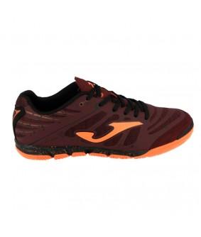 Chaussures pour adultes de Futsal et Foot à 5 noire et orange Super Regate IC Joma