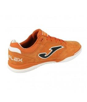 Chaussure de Futsal et de Foot 5 Top Flex Nubuck orange Joma