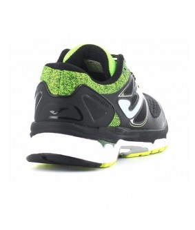 Chaussures running Hispalis noires et jaunes Joma