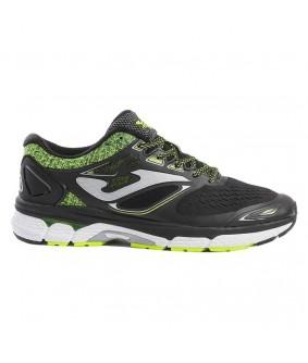 Chaussures pour adultes de Futsal et de Foot à 5 running Hispalis noires et jaunes Joma