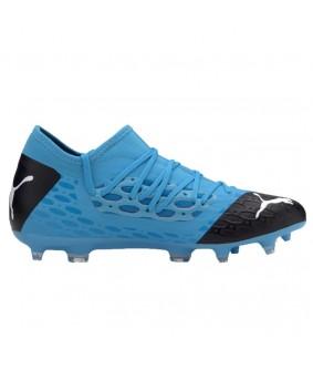 Chaussures pour enfants de Futsal et de Foot à 5 FUTURE 5.3 NETFIT bleues Puma