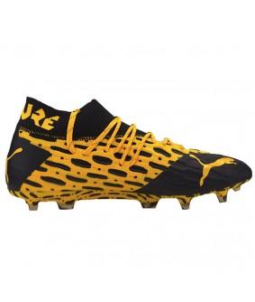 Chaussures pout adultes de football FUTURE 5.1 NETFIT jaunes PUMA