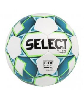 Ballon de Futsal et de Foot5 Super Select blanc et bleu