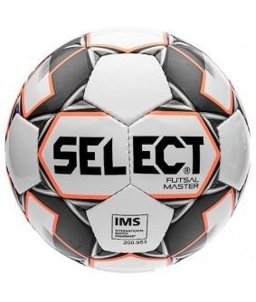 Ballon de Futsal et de Foot5 Master Select Blanc Shiny