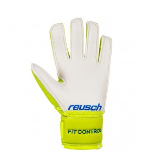 Gants de gardien futsal et football Fit Control SD Open Cuff Junior jaune Reusch