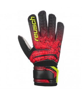 Gants de gardien futsal et football Fit Control SD Open Cuff Junior noirs rouges Reusch
