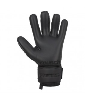 Gants de Football et Futsal noirs Fit Control Freegel S1 Reusch