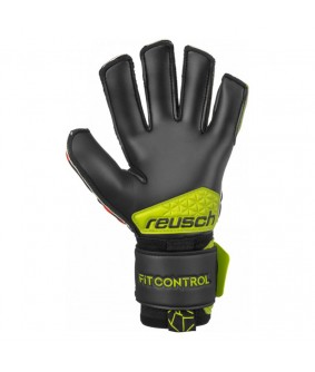 Gants de Football et Futsal noirs rouges Fit Control R3 Reusch
