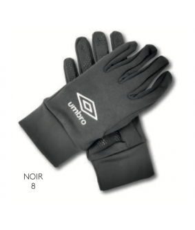 Gants Joueur Noir officiel Umbro AS Saint Brice Courcelles