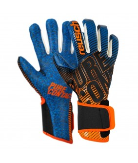 Gants de Football et Futsal bleu orange Pure Contact 3 S1 Reusch