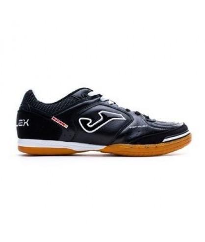 Chaussures pour adultes noires de Futsal et foot à 5 Top Flex IC Joma