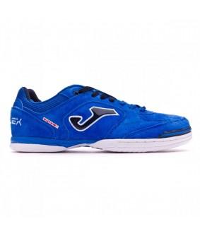Chaussures pour adultes de Futsal et de Foot à 5 Top Flex Nubuck bleue Joma