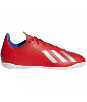 Chaussures de Futsal rouges X TANGO 18.4 IN adidas junior