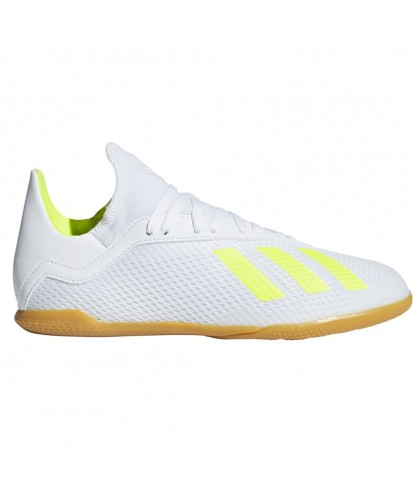 Chaussures de Futsal blanche X TANGO 18.3 IN adidas Junior