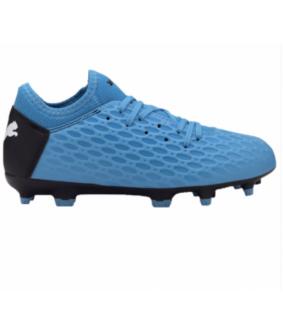 Chaussures pour enfants de Futsal et de Foot à 5 FUTURE 5.4 bleues Puma