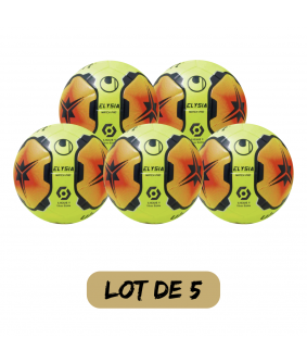 Lot de 5 ballons Football Elysia Match Pro Ligue Uhlsport