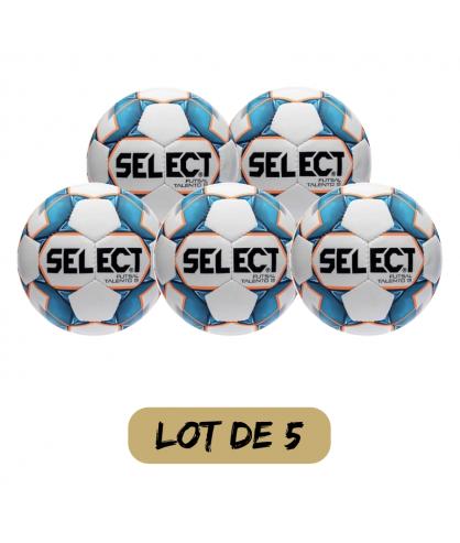 Lot de 5 ballons Futsal et Foot5 Talento 13 Select