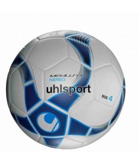 Ballon de Futsal et Foot à 5 Blanc et Bleu Medusa Nereo Uhlsport