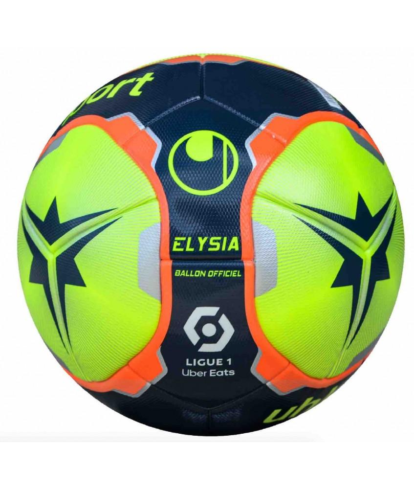 Ballon De Football Elysia Jaune Officiel Ligue 1 Uhlsport Futsalstore