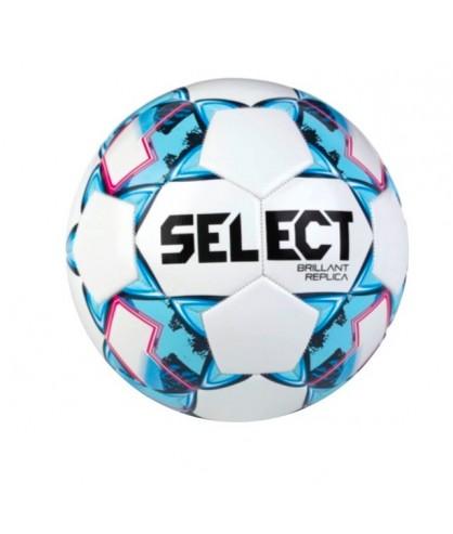 Ballon de Football Blanc et bleu Brillant Replica Select