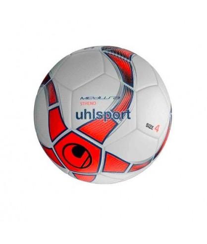 Ballon Futsal Blanc et Rouge Medusa Stheno Uhlsport