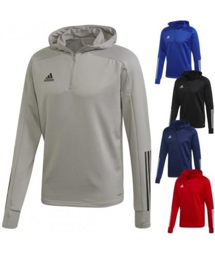 Sweat 1/2 zip entrainement de football et de futsal Condivo 20 adidas