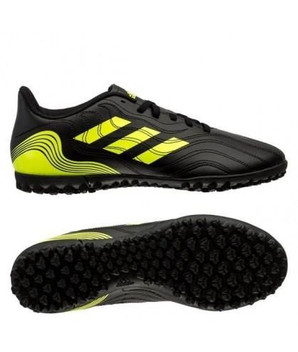 Chaussures adultes de Futsal noires et jaunes Copa Sense.4 TF adidas - FutsalStore