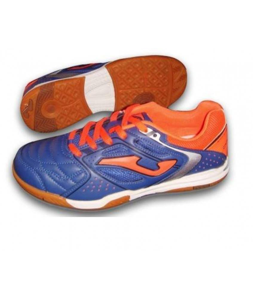 chaussures de foot en salle dribling in junior bleues et oranges joma futsalstore. Black Bedroom Furniture Sets. Home Design Ideas